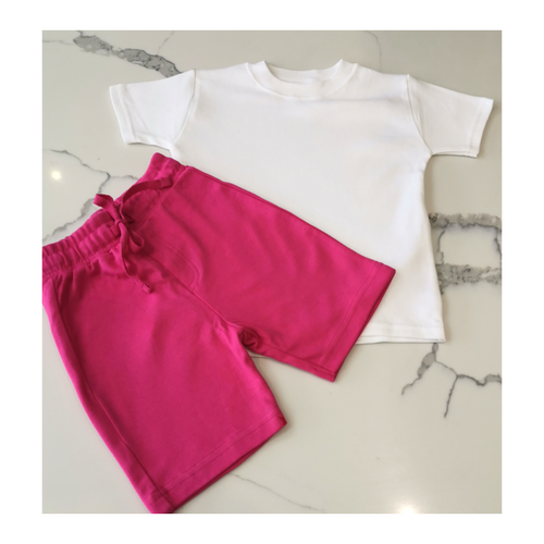 Pink shorts and t-shirt set