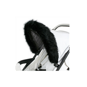 Black fur hood trim