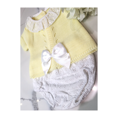 Baby girls lemon jam pants set with bow