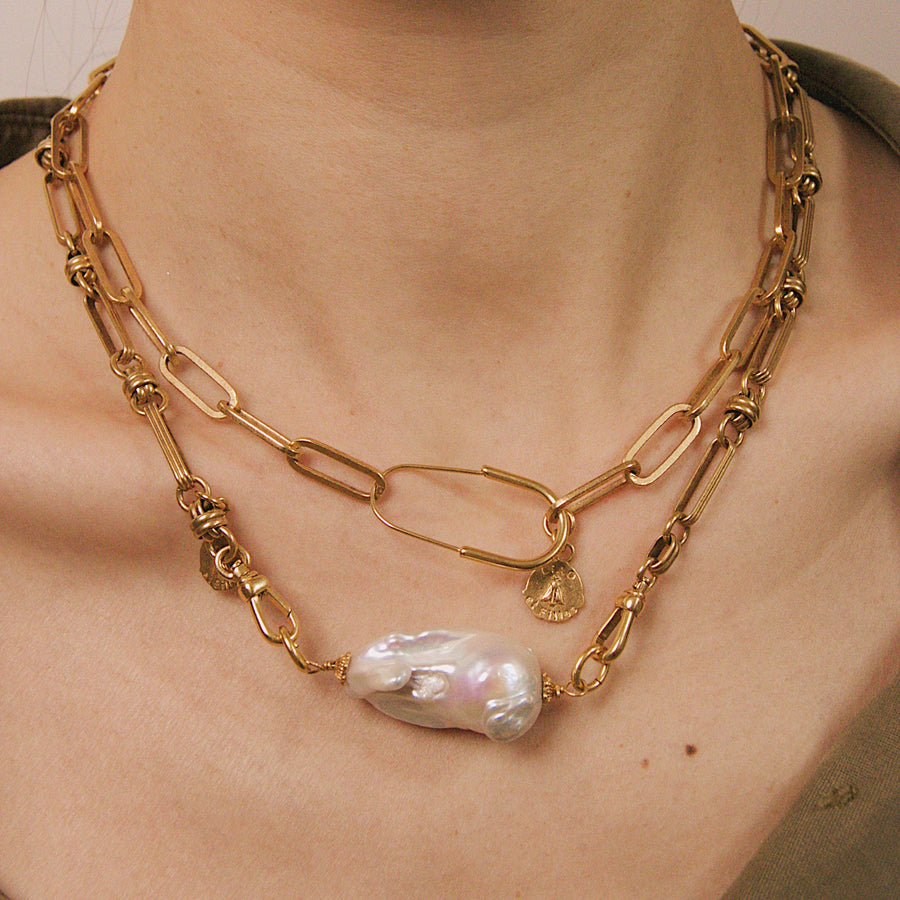 Collier épingle à nourrice Clara