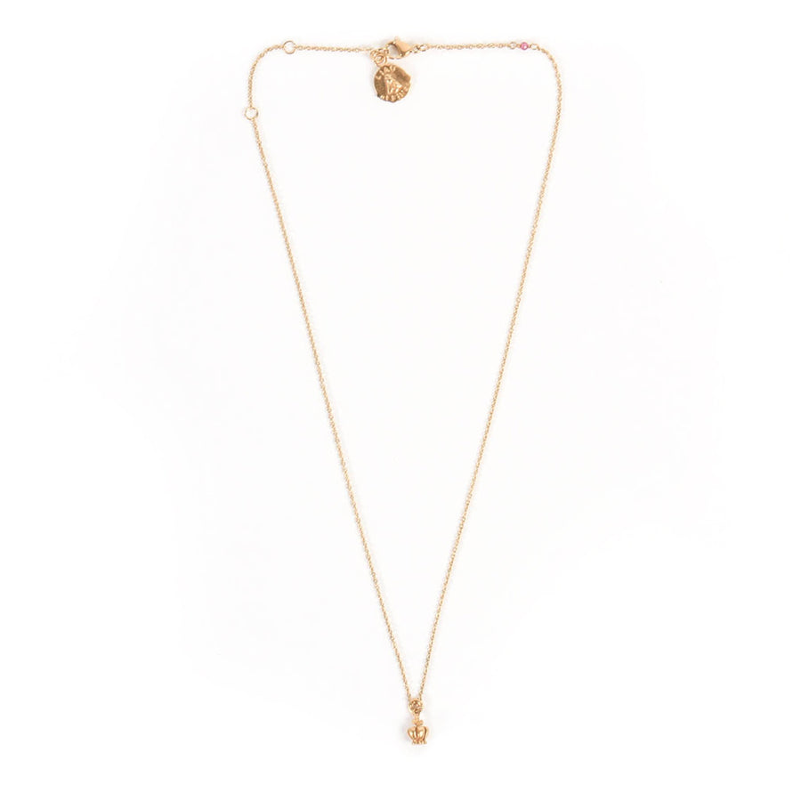 Collier mini Couronne or