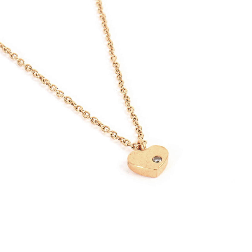 Collier mini Coeur or
