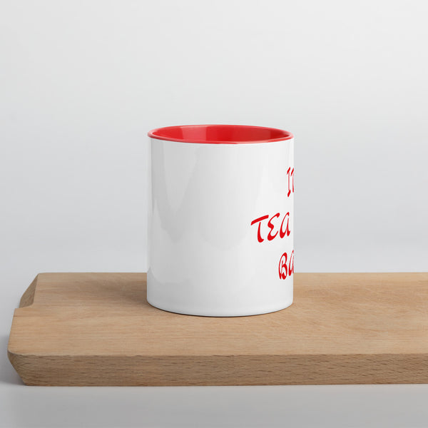 Tea Time Mug with Color Inside - Red