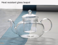 Heat-resistant Glass Teapot And Double Wall Glass Teacup