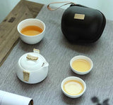Travel Tea Set Portable Ceramic Teapot Teacup