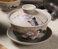 Chinese Hand Painted Ceramic Tea Cups Saucers