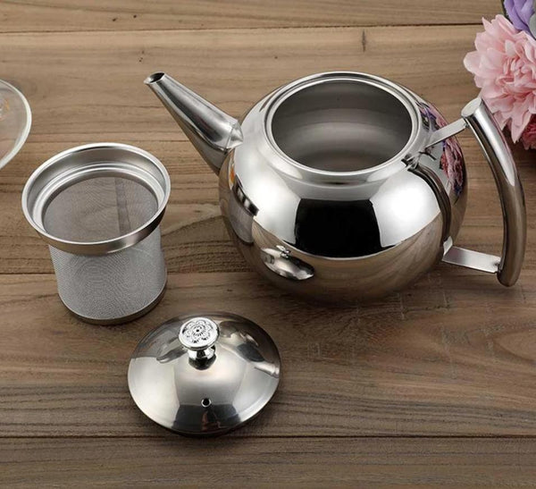 Stainless Steel Teapot With Tea Infuser
