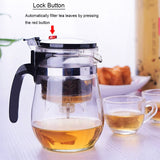 Heat Resistant Glass Teapot With Infuser
