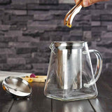 Glass Teapot with Built-in Infuser