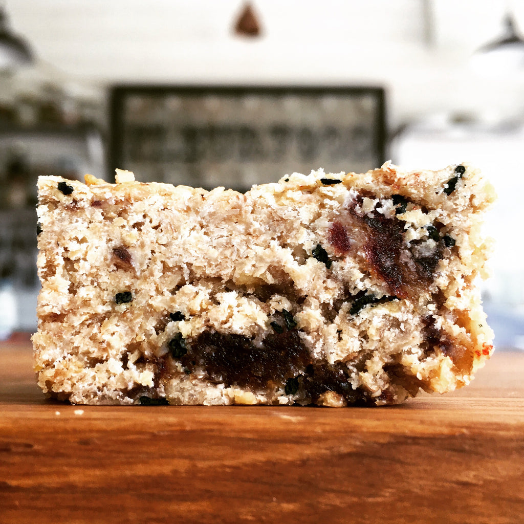 Sticky Date, Stem Ginger & 3-Seed Flapjacks