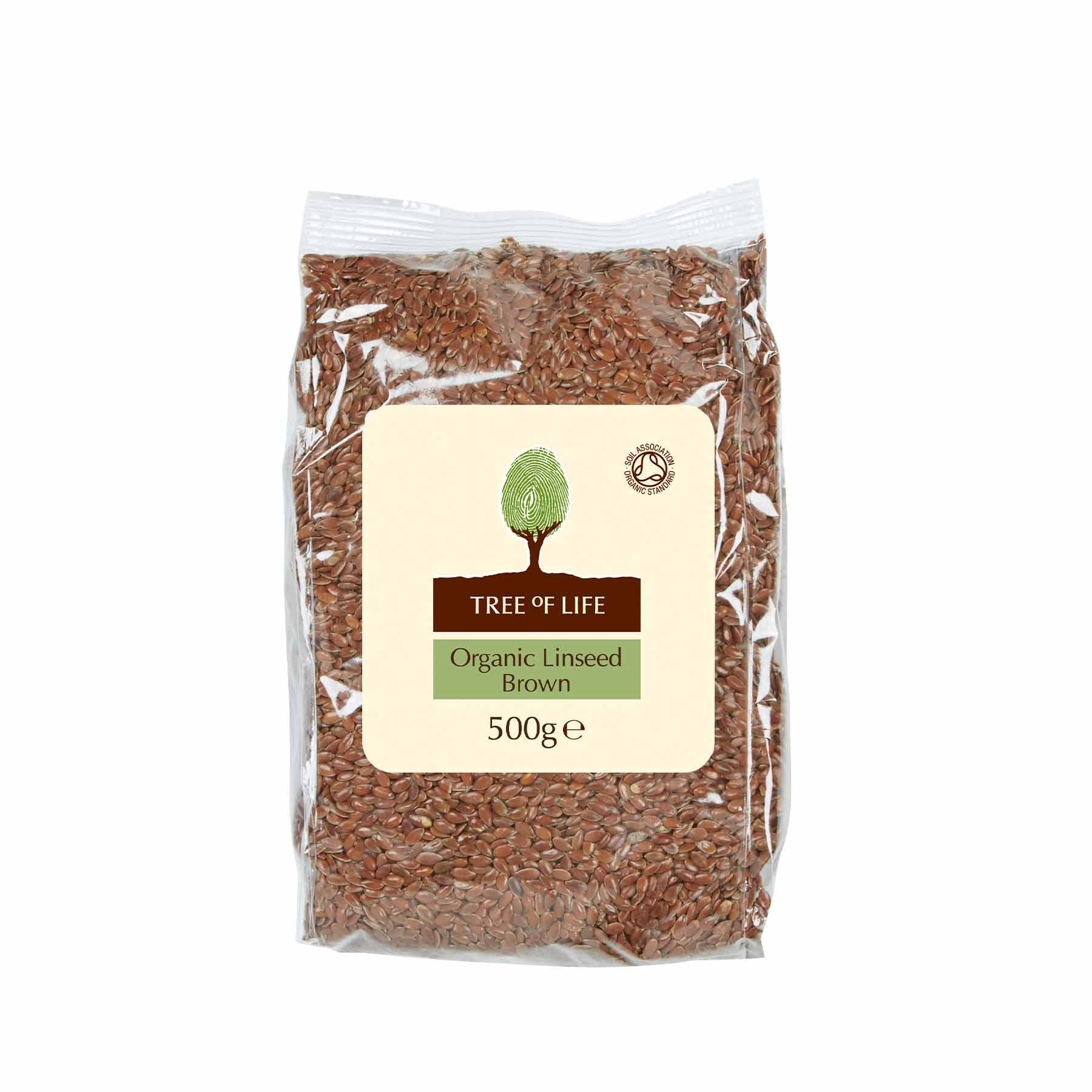 Packshot - Organic Brown Linseed by Tree of Life