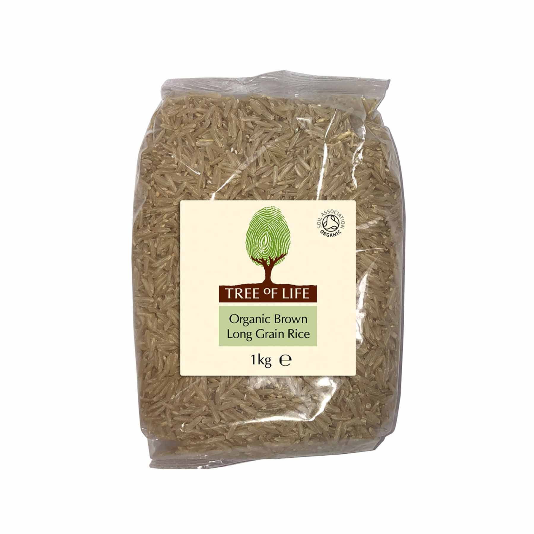 Packshot - Organic Long Grain Brown Rice by Tree of Life