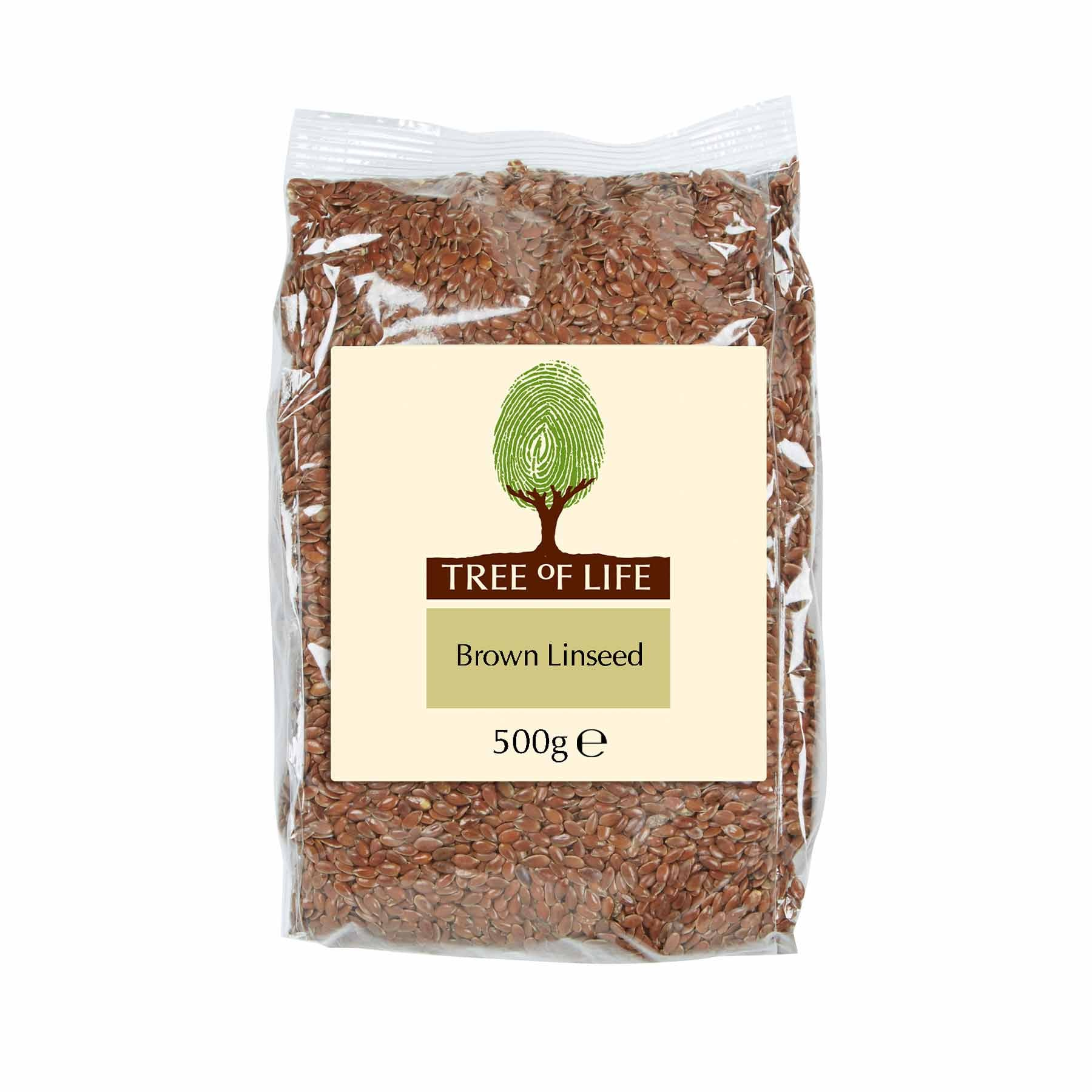Packshot - Brown Linseed by Tree of Life