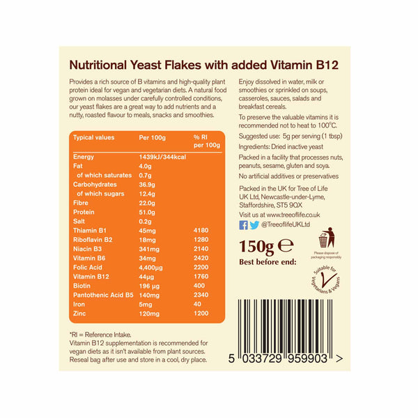 Nutritional Yeast Flakes + B12