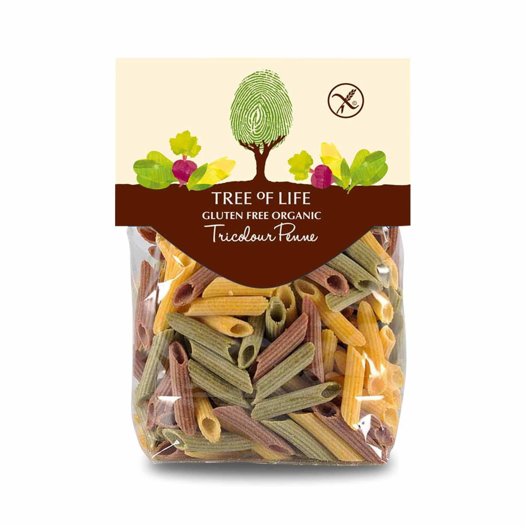 Packshot - Organic Tricolour Penne by Tree of Life