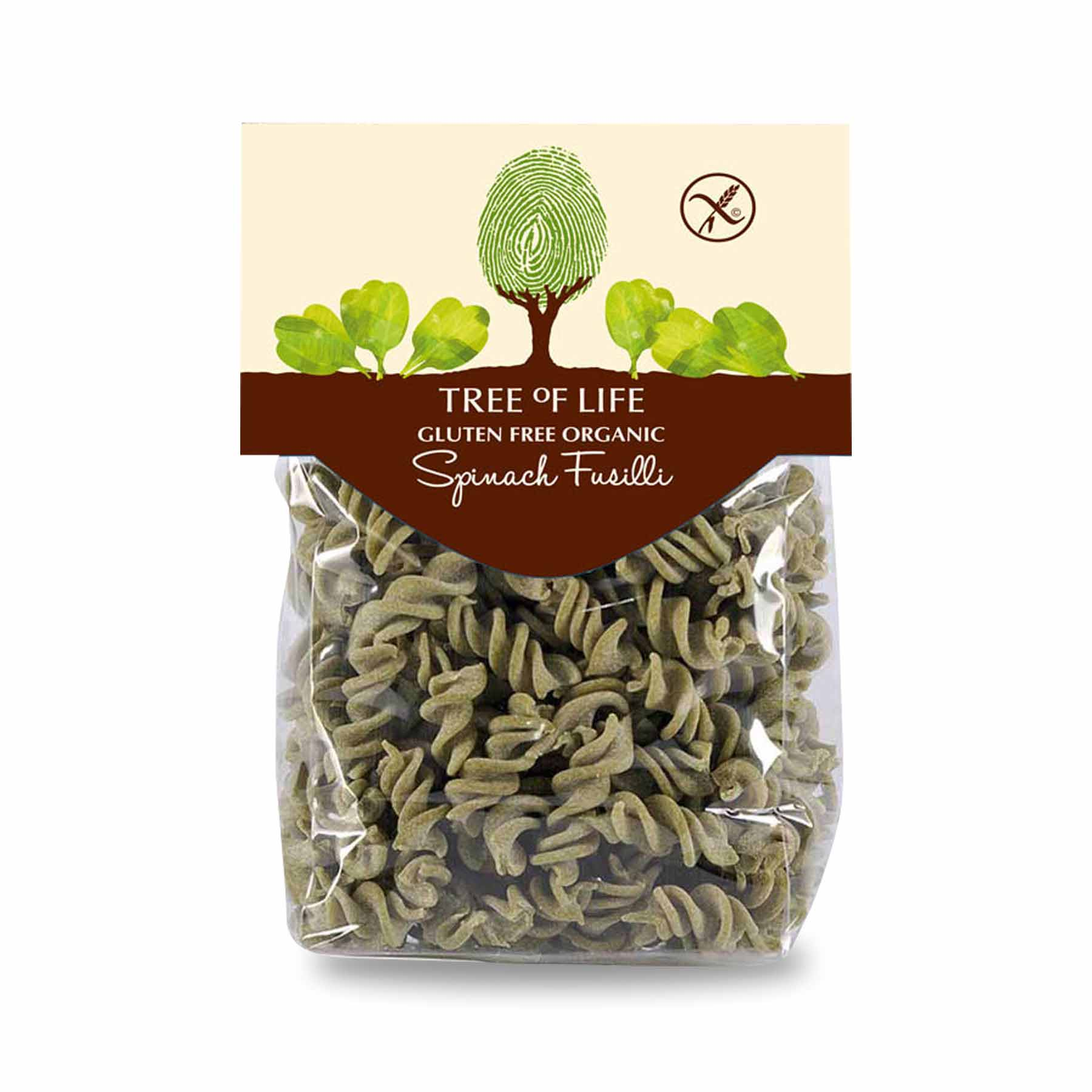 Packshot - Organic Spinach Fusilli by Tree of Life