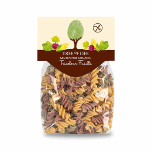 Packshot - Organic Tricolour Fusilli by Tree of Life