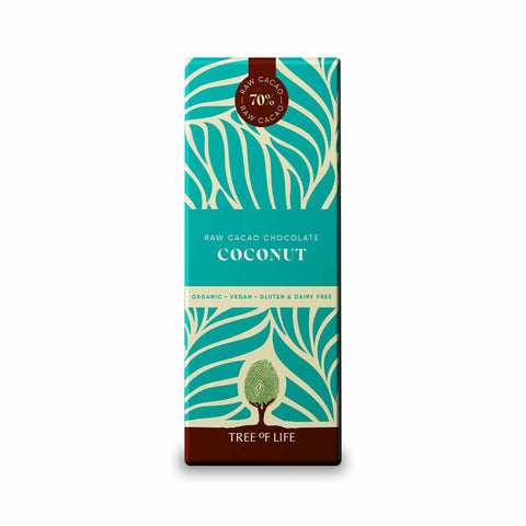 Packshot - Raw Organic Chocolate - Coconut by Tree of Life