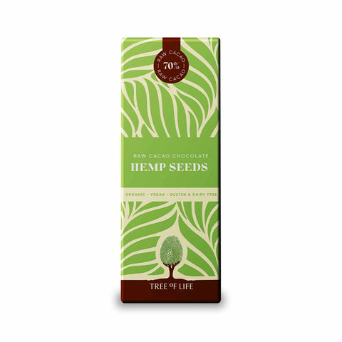 Packshot - Raw Organic Chocolate - Hemp Seeds by Tree of Life
