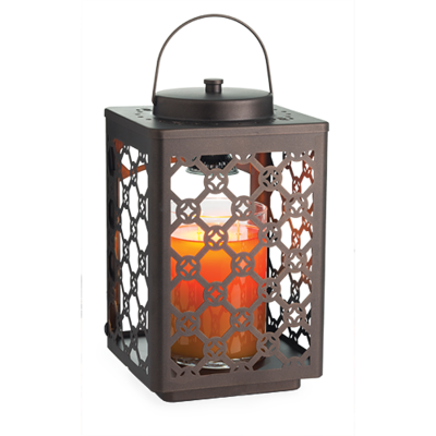 Candle Warmer Lanterns - Rubbed Bronze Garden Lantern