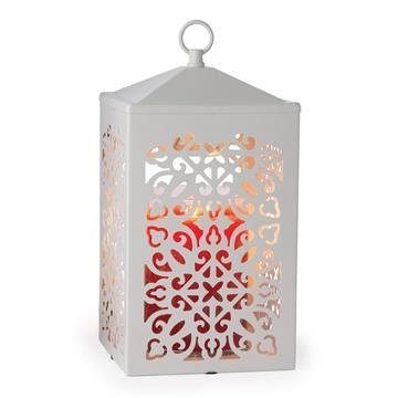 Candle Warmer Lanterns - White Scroll