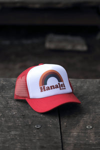 YOUTH HANALEI RAINBOW TRUCKER HAT