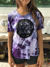 Load image into Gallery viewer, WOMENS PURPLE TIE DYE