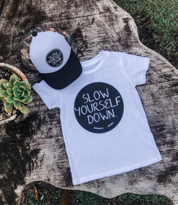 YOUTH SLOW YOURSELF DOWN TEE