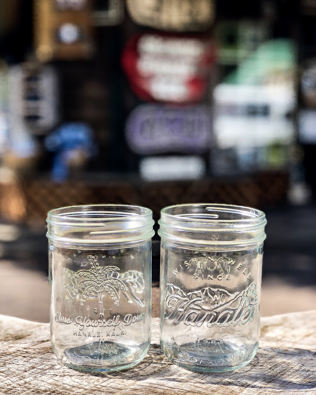 HANALEI MASON JARS- SET OF 6