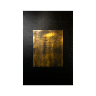 abstract gold wall art