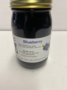 Amish Blueberry Jam 20oz jar