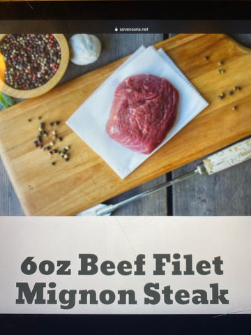 Beef Filet Mignon Steak 6oz