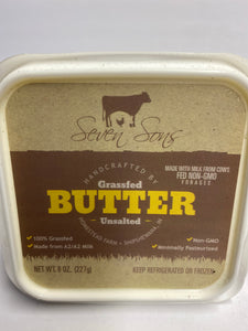 Grassfed Butter Unsalted 8oz tub