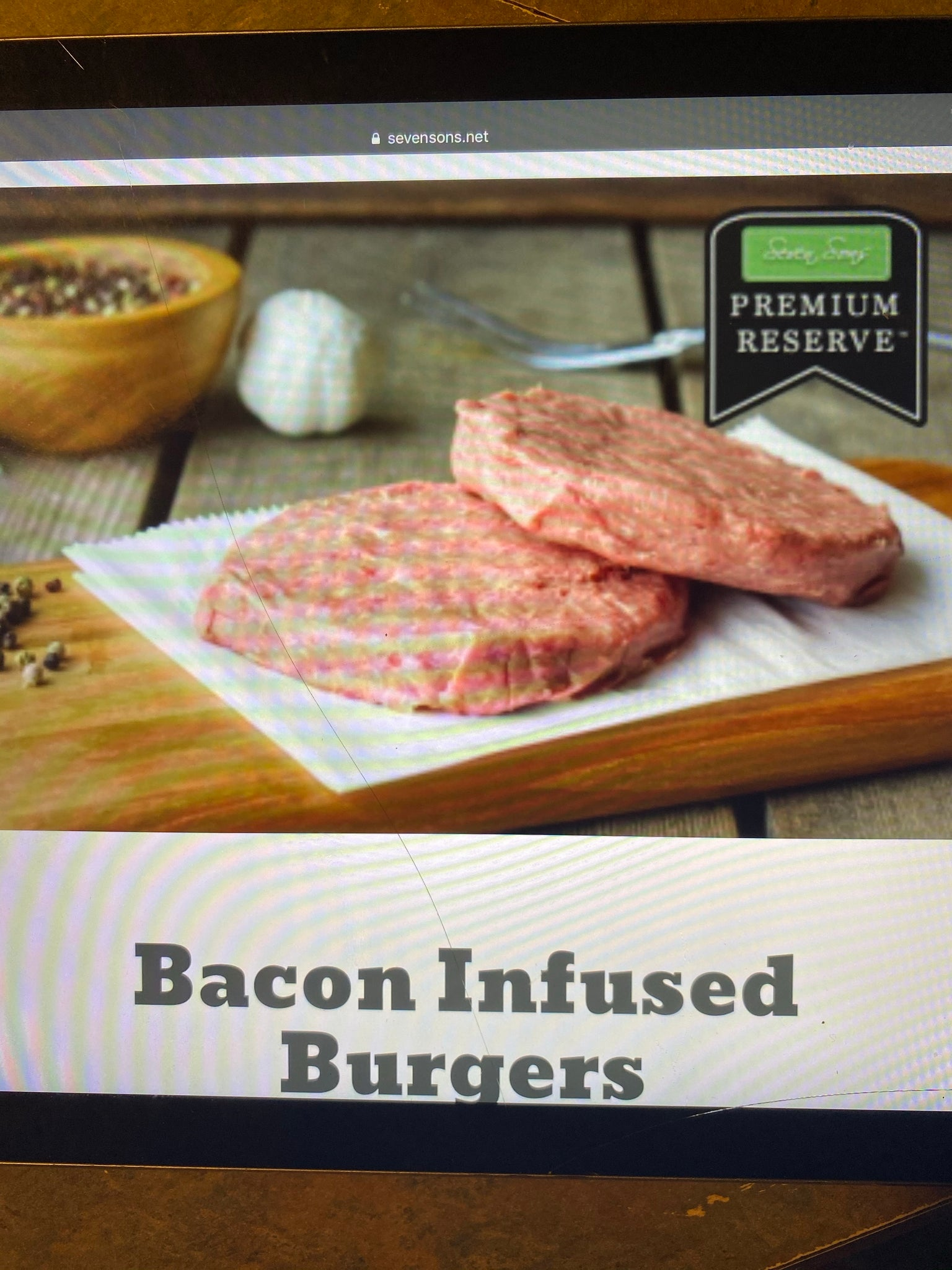 Bacon Infused Burgers