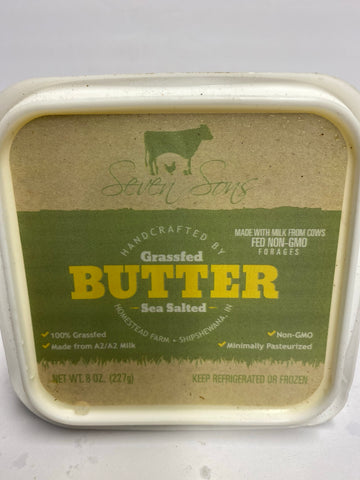Grassfed Butter w/sea salt 8oz tub