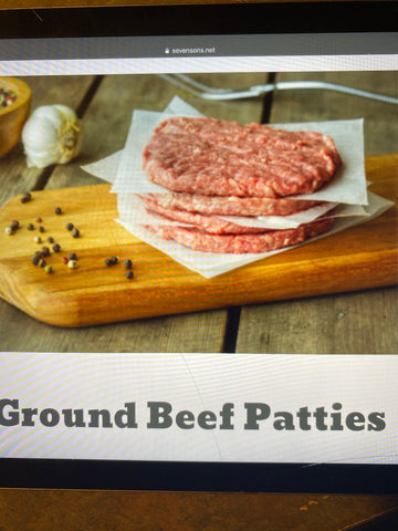 Ground Beef Patties 1lb
