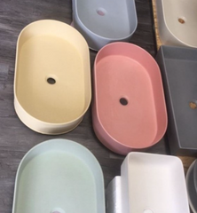 Concrete Sinks In Various Colors