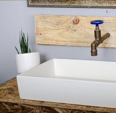 White Vessel Concrette Sink by Concretti Designs