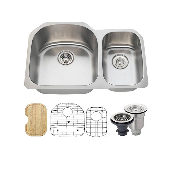 The Polaris PL1213 Undermount Kitchen Sink Ensemble