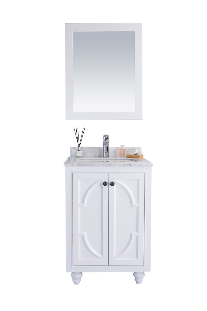 Odyssey - 24 - White Cabinet - Vanity + Countertop