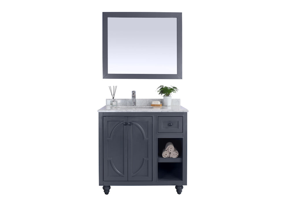 Odyssey - 36 - Maple Grey Cabinet - Vanity + Countertop