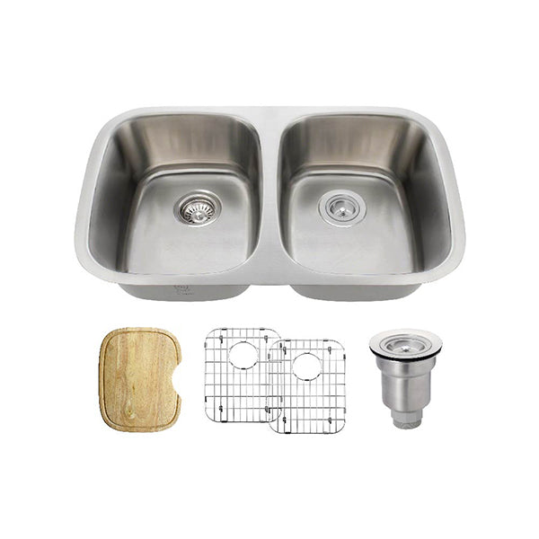 The Polaris P015 Undermount Kitchen Sink Ensemble