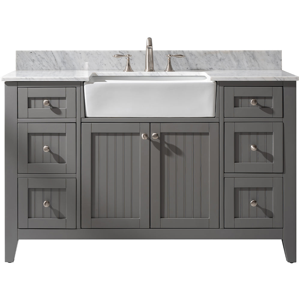 "Burbank 54"" Single Bathroom Vanity - Gray"