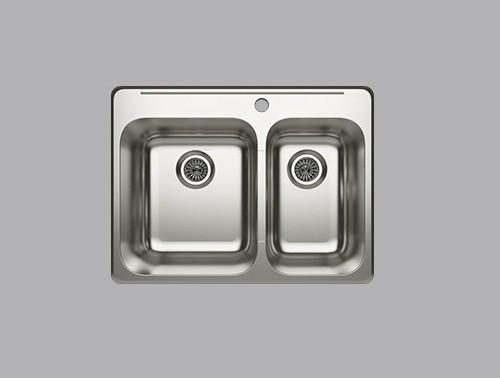 Cantrio Koncepts KSS-521 Double Basin Topmount Kitchen Sink