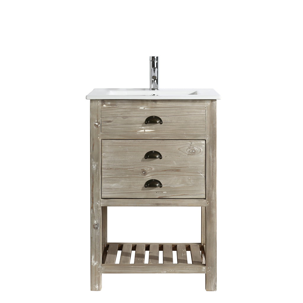 "Asbury 24"" Single Sink Bathroom Vanity - Natural"