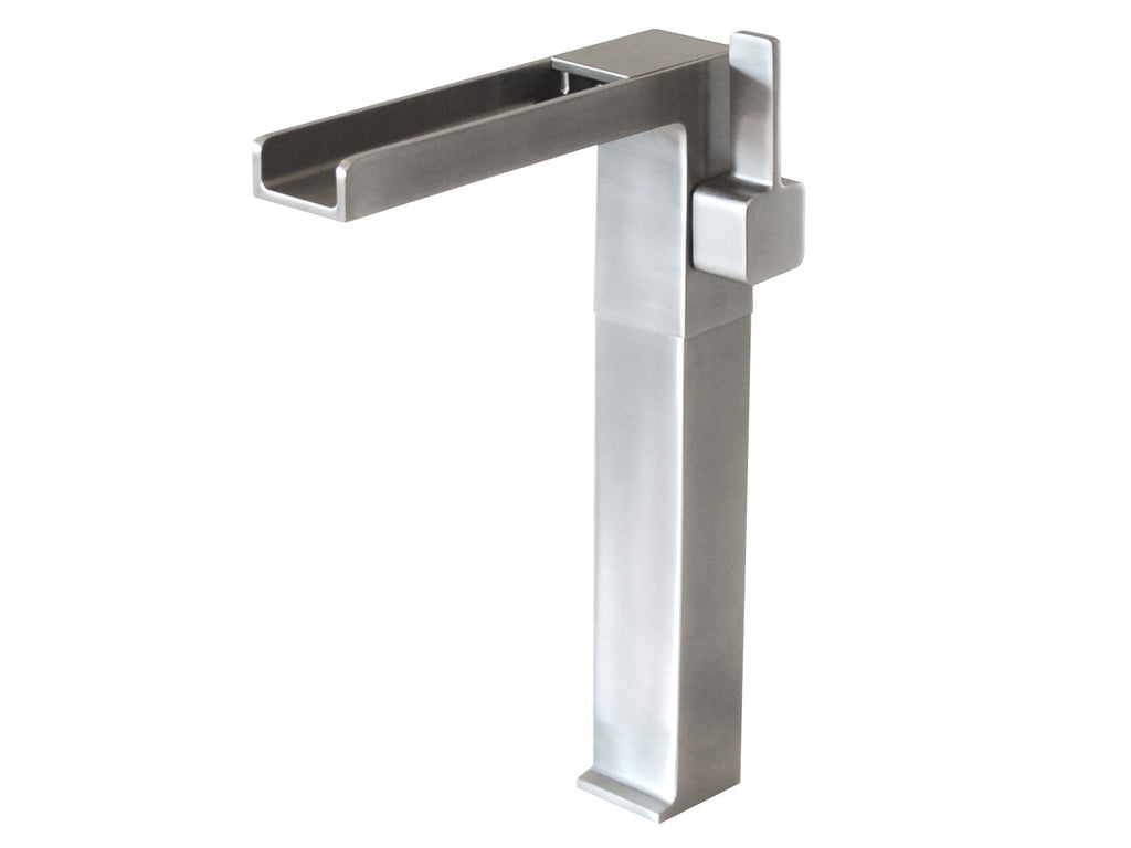 Cascada Waterfall Vessel Faucet - Brushed Nickel