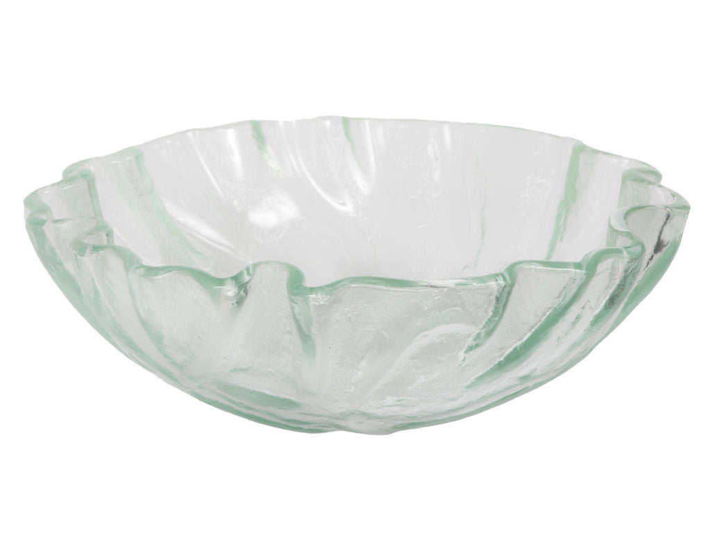 Clear Freeform Wave Glass Vessel Sink