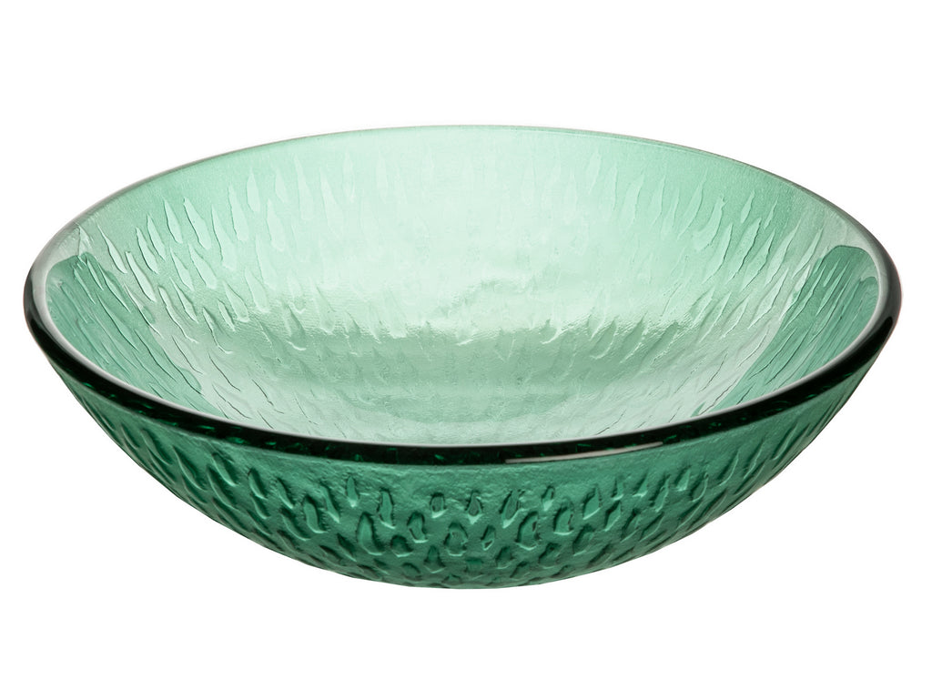 Green Drops Glass Vessel Sink