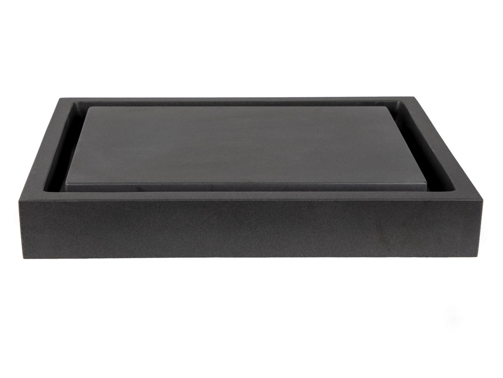 Rectangular Infinity Pool Sink - Honed Stone