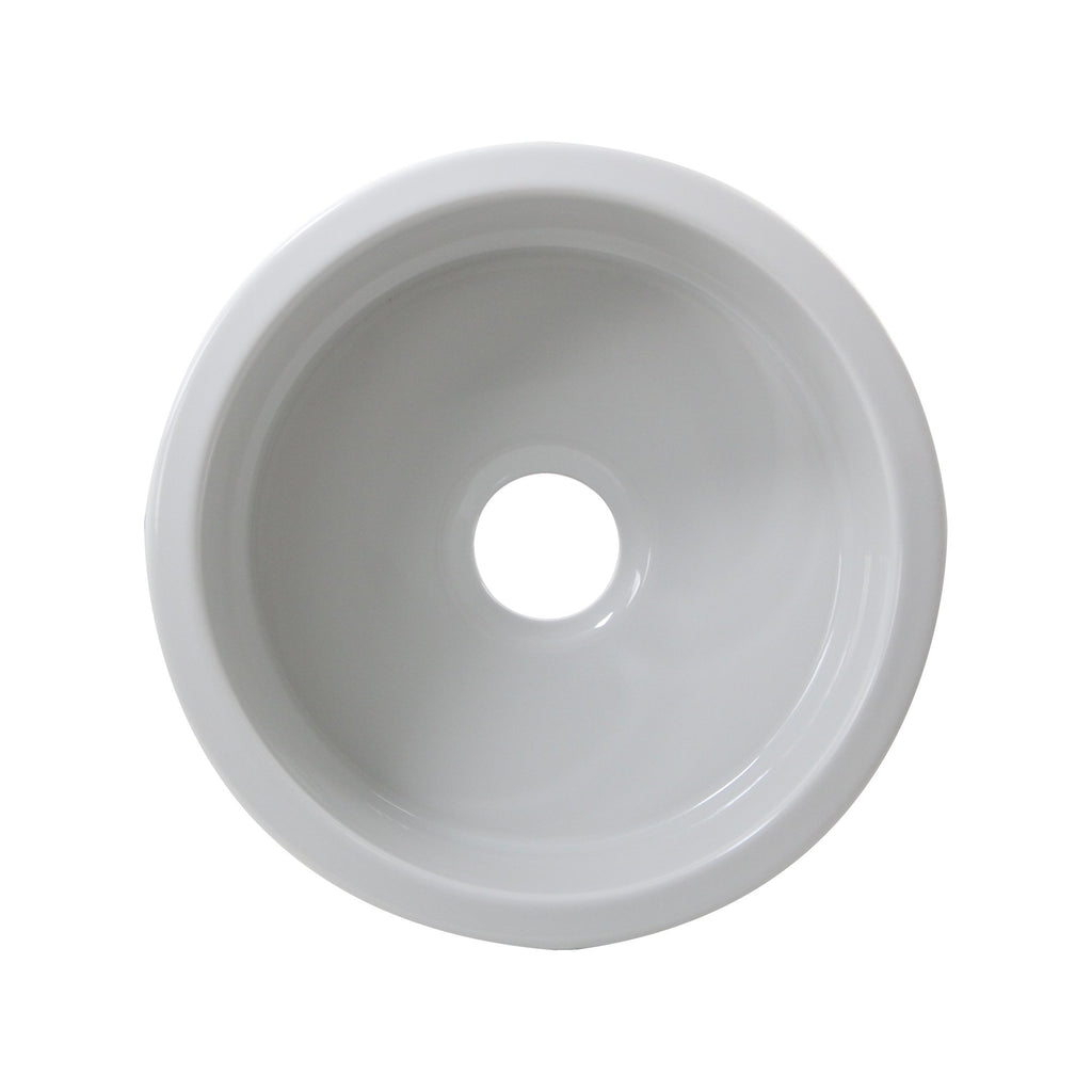 Nantucket Sinks 18 inch Fireclay Round Bar-Prep Sink